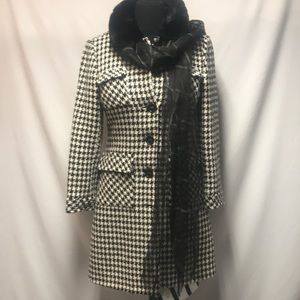 Trina Turk Hounds Tooth Peacoat 12 So Fire 🔥 12